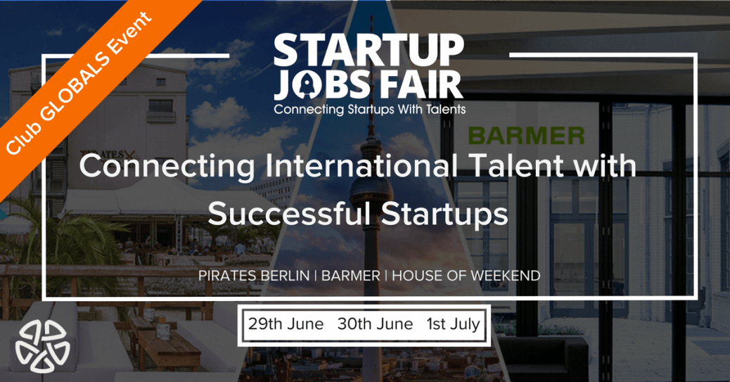 the startup jobs fair an event organized by club globals germany startup jobs