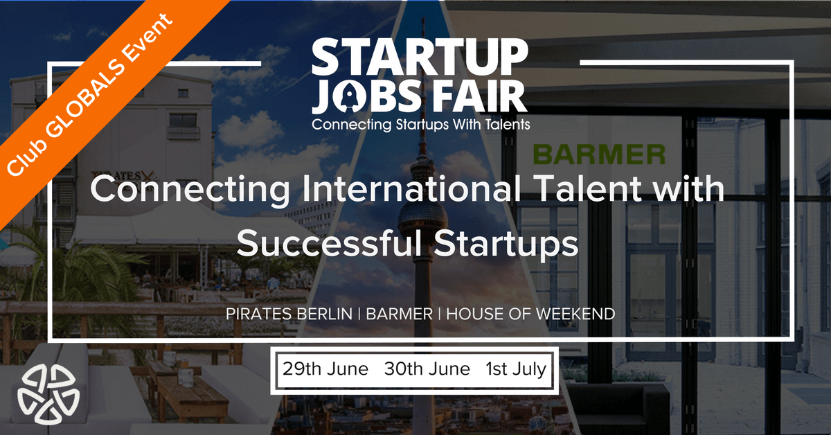 The Startup Jobs Fair- An Event Organized By Club GLOBALS & Germany ...