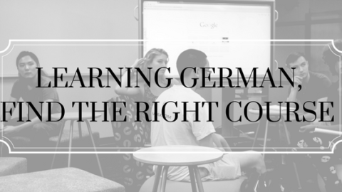Learning German, choose the right course.