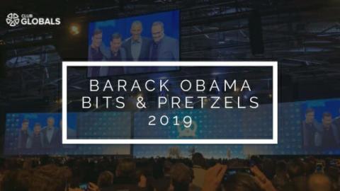 Barack Obama at Bits & Pretzels Founders Festival 2019