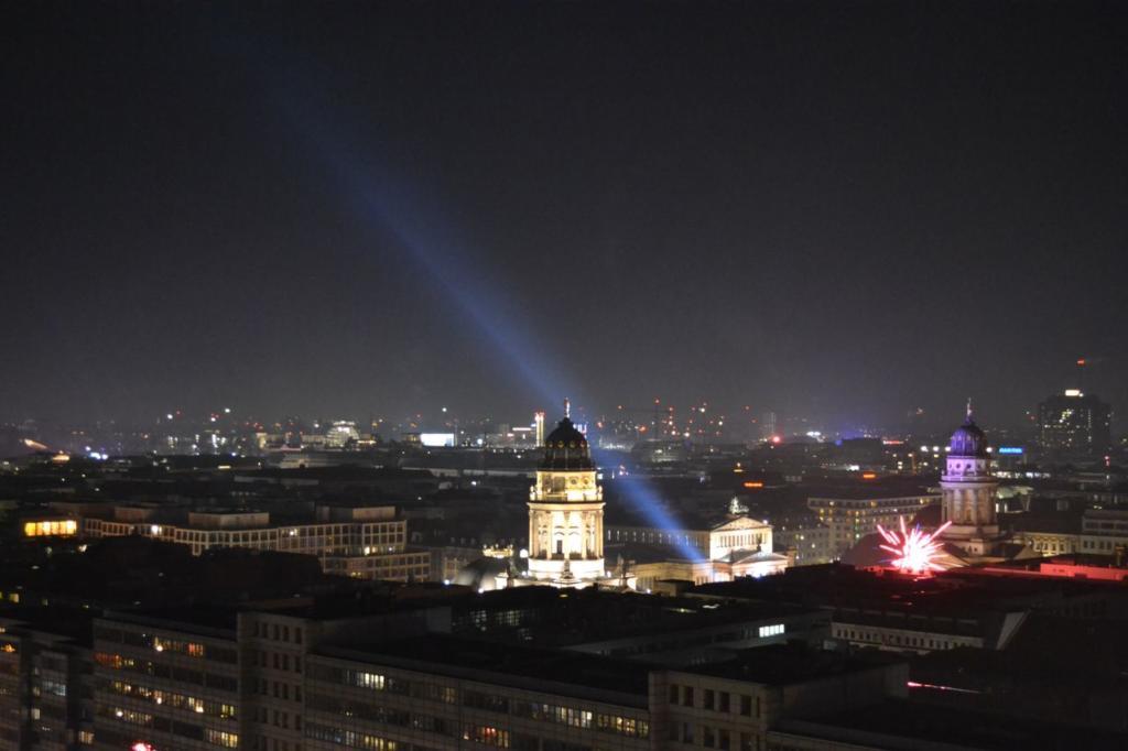 GLOBALS Sky Lounge Berlin Night Skyline