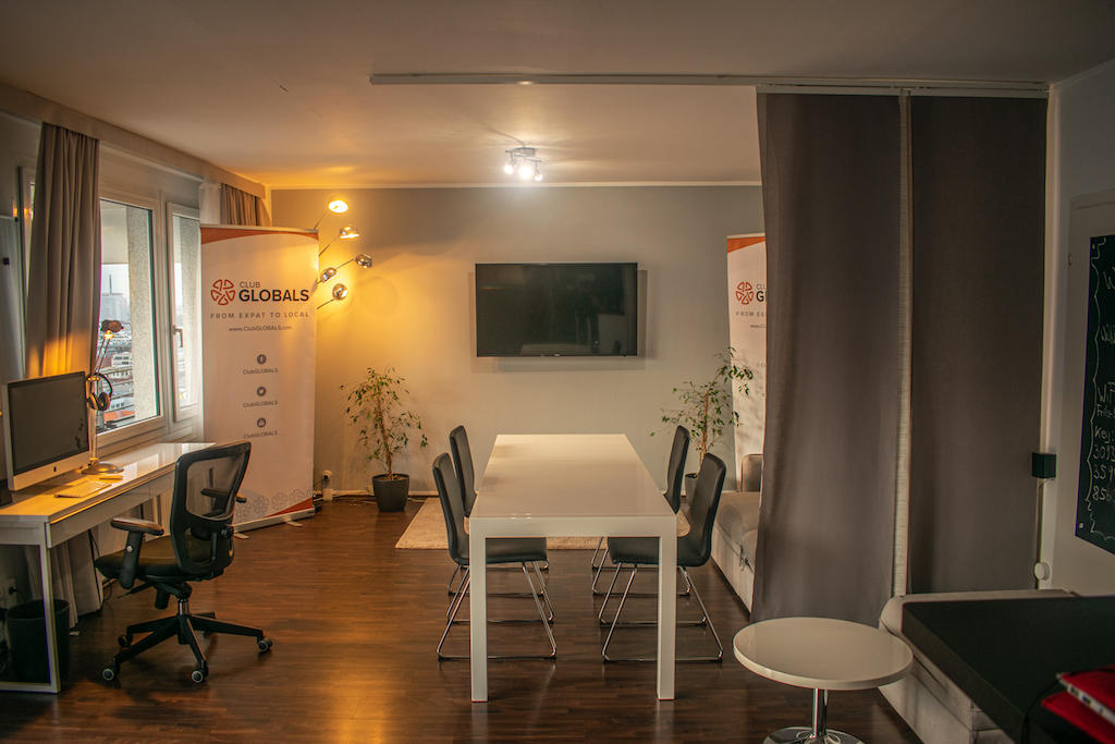 GLOBALS Sky Lounge Meeting Space Table with TV